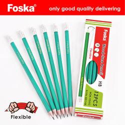 Matita di plastica flessibile ecologica di alta qualità con l'eraser
