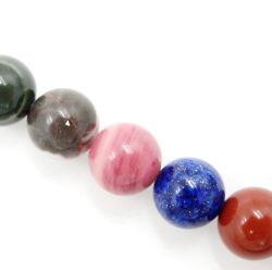 Commerce de gros de pierres naturelles ronde lâche 4-12mm Mix Perles de pierre