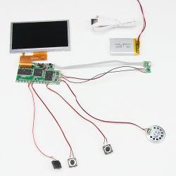 Panel TFT de 4,3 pulgadas multifunción pequeña tarjeta de felicitación de Vídeo LCD Botón Display componente Folleto Digital