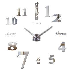 Classic Chiffres arabes Large-Size 3D Horloge murale acrylique