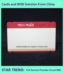 Cartões de PVC em forma e tamanho personalizado para hotéis/Parques de Diversões