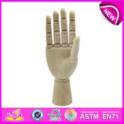 Best Selling manequim mão de madeira e flexível de manequins de madeira mãos para venda, manequim manequim de madeira flexível lado W06D042-B