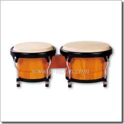 Toon blanco de madera Bongos/Latin Percussion Bongo de madera del tambor (BOBCS006)