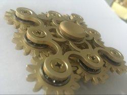 最も新しいアルミニウム9ギヤ連結落着きのなさ手の紡績工-手のおもちゃ