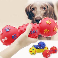 Banheira de venda por grosso durável Dumbbell-Shaped Chew estridente cão de estimação Pet Vinil brinquedo estridente