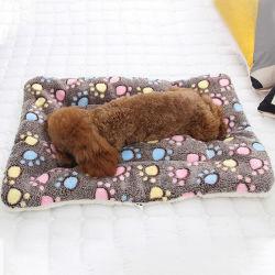 Base molle della stuoia della coperta della peluche dell'animale domestico del cucciolo del gatto del cane
