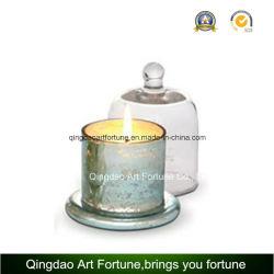 新しいデザインの金属ガラスClocheの瓶の蝋燭