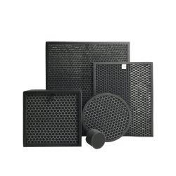 Пользовательские панели черного Honeycomb активированного угля фильтры Pleat курения замена скорлупы кокосовых орехов активный угольный фильтр воздуха