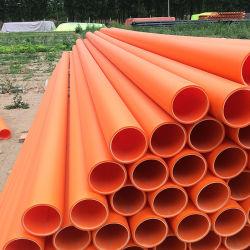 地下の電気ワイヤーのためのオレンジPVC管Mppの管の電源コードの管