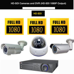 1080p HD SDI Caméra de vidéosurveillance HD et HD SDI DVR