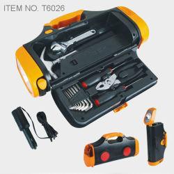 Hilfsmittel-Installationssatz mit Fackel-Licht-und Auto-Feuerzeug-Adapter (T6026)