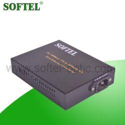10/100/1000m de fibra ótica para o conversor de mídia Ethernet