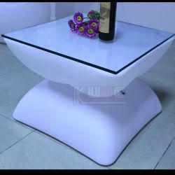 El té de la mesa de café blanco escarcha tablas para su uso en casa