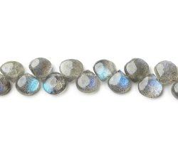 Naturel Briolette Labradorite coeur Perles de pierres semi précieuses