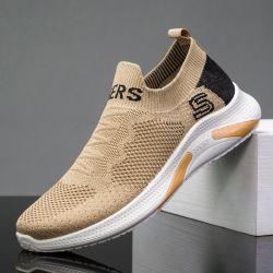 Commerce de gros bon marché durable chaussures de sport masculin Hommes Chaussures de chaussettes en tricot occasionnel