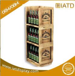 Schioccare in su il banco di mostra di legno di vendita al dettaglio del pavimento per la bevanda/birra