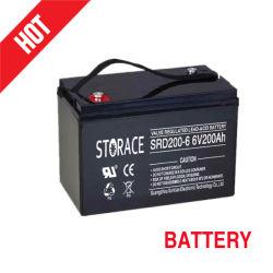 Использования солнечной энергии аккумулятора 6V 200Ah промышленных аккумуляторной батареи