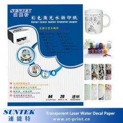 De transparante Beschikbare Grootte van het Document van het Overdrukplaatje van het Water van de Laser A4 A3