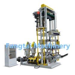 Qualidade de Taiwan HDPE de alta velocidade LDPE poli plástico Pbat PLA biodegradável parafuso duplo Co-extrusão 3 camadas Mini tipo aba Film Blowing Máquina de filme soprado