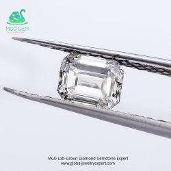 MGO jóias fábrica peritos DCV/Hpht Corte Esmeralda Lab diamante pedra central