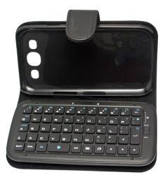 Беспроводная клавиатура Bluetooth кожаный футляр для Samsung Galaxy Siii S3 Gt-I9300