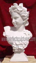Busto estatua de mármol blanco Dama (SY-S190)