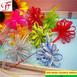 Craft/Wrapping를 위한 패킹 Box Bicolor Iridescent Pull Ribbon Double 또는 Single Face Satin Ribbon Grosgrain Ribbon Taffeta Gingham Hemp Ribbon