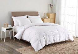 Bianco della banda delle coperture del cotone del Comforter di Puredown del rifornimento che farcisce il re bianco del re/caloria dell'anatra di 75% giù