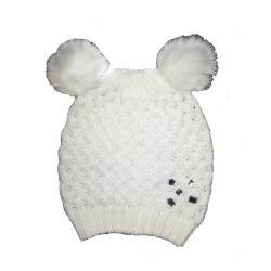 어린이 겨울 따뜻한 패션 휘빙 바구니 웨브 비니 모자 모자 모자 모자 포모피 포마룸 다이아몬드 장식으로 꾸며져 있습니다