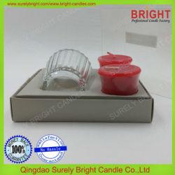 Bougie votive parfumée de gros décoratifs Gift Set en PVC Box