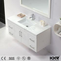 熱い販売のCorianの浴室の虚栄心の流しのホーム家具の洗面器の固体表面のキャビネットの洗面器