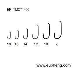 El código Tmc71450 de Mustad bronceó los ganchos de leva de la mosca del color