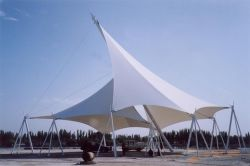 Échantillon gratuit manteau membrane PTFE Tissu membrane PTFE haute tension de l'architecture