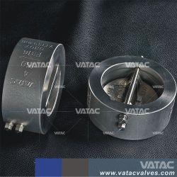 Klep Uit gegoten staal van de Controle van de Plaat van het Wafeltje van Vatac API/DIN de Dubbele