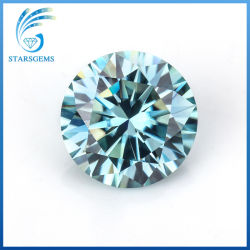1CT om Briljante Besnoeiing 6.5mm Blauwe Kleurrijke Halfedelstenen Moissanite