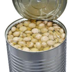 普及した販売のシャンピニオンによって缶詰にされるきのこの缶詰食品