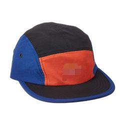Contraste negro Naranja Rojo y azul brillante Resistente al agua, 5 paneles de béisbol Snapback Caps gorras visera