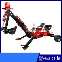 Die China-setzt populärer preiswerter kleiner 2 Rad-grabender Maschinen-preiswerter Miniexkavator kleines Löffelbagger-Benzin und für Preis Deisel Energien-Towable Löffelbagger fest