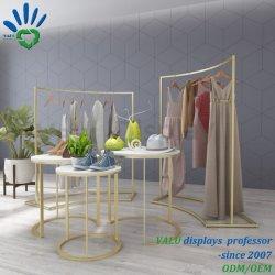 Металлические одежды магазин одежды для монтажа в стойку Gold подставка для дисплея посадку Arc Накадзима стороны вешалки для одежды, куртка, футболка