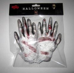 살벌한 훈장 부속품에 의하여 붙어 따라다녀진 집 Halloween는 손을 버틴다