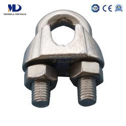 亜鉛によってめっきされる鋳鉄の可鍛性鋼鉄DIN741ワイヤーロープクリップ