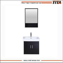 Mobilia fissata al muro di vanità della stanza da bagno della lacca del MDF dell'hotel moderno con lo specchio