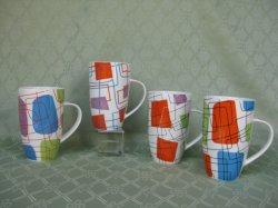 손잡이 세라믹 찻잔 다채로운 멜라민 컵