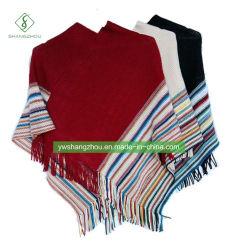 Горячий Европе зима полосой утолщения шарфом моды женщин прикрытия Шаль