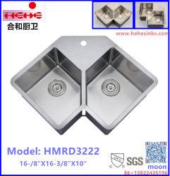 À la main un évier, de rayon R10 Conner Topmount évier, évier en acier inoxydable, les petites Conner lavabo