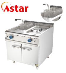 Kartoffelchip-Huhn-Fisch-Lebesmittelanschaffung-Maschinen-Küche-Nahrungsmittelgeräten-Handelsgas-tiefe Bratpfanne