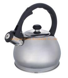 3.0L Cuisinière bouilloire bouilloire de thé vert en acier inoxydable avec de grandes capacités en la forme du ventre