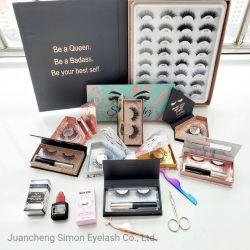 Kundenspezifische Nerz-Pelz-Luxus-GroßhandelsWimpern des Firmenzeichen-Verpackungs-Kasten-25mm der Peitsche-5D 3D reale