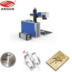 Laser die van de Vezel van argus Jpt Ipg Raycus 20W 30W 50W de Draagbare Machine voor de Gravure van de Plaat van de Naam van de Ring van het Metaal van Juwelen merken
