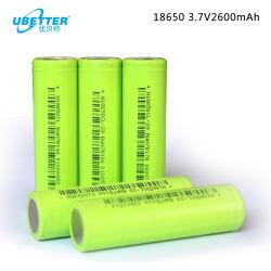 전기 장난감을%s 재충전용 리튬 건전지 18650 3.7V 2600mAh
